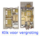 Dorpshuys 6 persoons inrichting