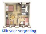 Landhuys appartement 4 persoons inrichting