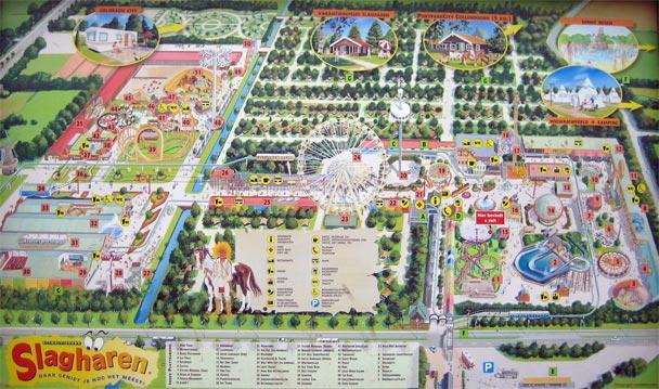 Plattegrond Attractiepark Ponypark Slagharen