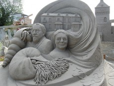 Zandsculpturen Garderen foto 1